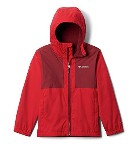 Columbia Fleece Lined Jacket Rainy Trails - Chaqueta con forro polar, Rojo Montaña, XS Niños y bebé