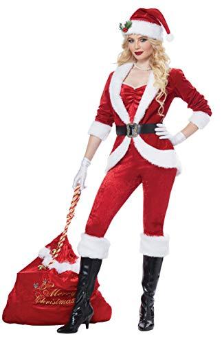 California Costumes Women's Sassy Santa-Adult Costume, RED/White, Extra Large