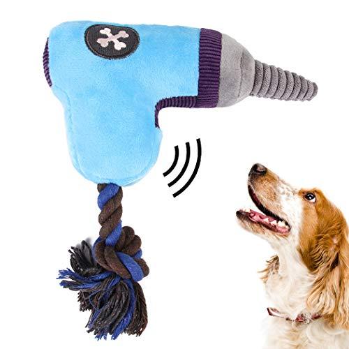Pluche speelgoed in de vorm van een boormachine, van katoenen koord, bijtspeelgoed voor honden, speelgoed voor huisdieren, Blauw