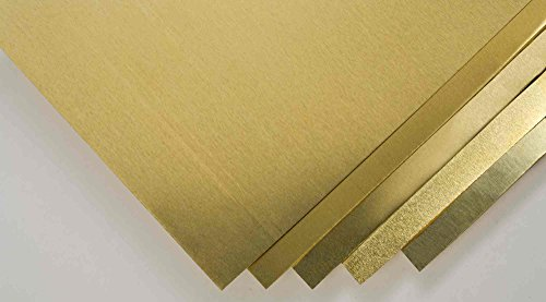 Goodson Brass Shim Stock Assortment | 5 Pack | 4 x 6 in. | .001.002.003.005 and .010 in. Thick