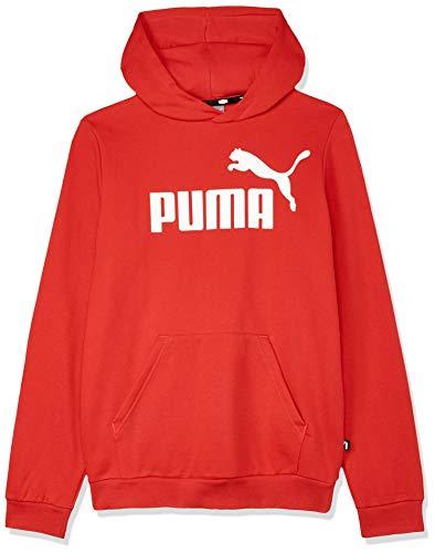 PUMA - Felpa a maniche lunghe unisex con logo Ess Fl B Rosso ad alto rischio. 116 cm