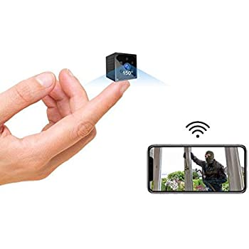 Spy Camera- 4K HD Hidden Camera Mini Wireless Spy Cam Portable WiFi Nanny Cam with Phone App Night Vision Motion Detection Smallest Security Surveillance Cameras for Indoor/Home/Apartment/Office