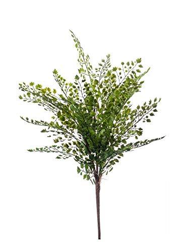 artplants.de Set 12 x Künstlicher Frauenhaarfarn DEMAS auf Steckstab, grün, 40cm - Künstlicher Venushaarfarn - Deko Frauenfarn
