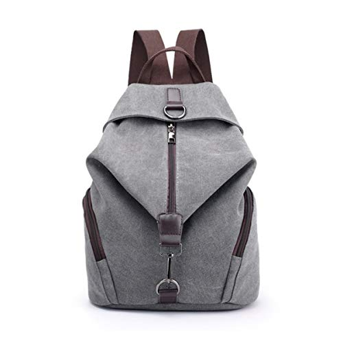 Yidarton Damen Leinwand Rucksack Canvas Schulrucksack Reisetasche Outdoor Schule Backpack