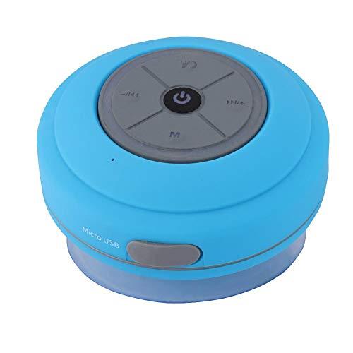 BT-luidspreker, draagbare BT-luidspreker met zuignapsteun BT draadloze transmissiemicrofoonfunctie, badkamer Mini waterdichte handsfree BT-luidspreker Blauw