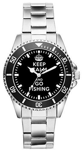 Geschenk für Angler Fischer Angel Uhr 1575