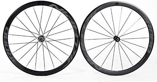 Ruedas De Bicicleta,llantas bicicleta 700C bicicletas de ruedas Ultralight de aluminio de doble pared de aleación de bicicletas Bordes de 40 mm de alta trasera de la rueda delantera de la rueda 4 Pali