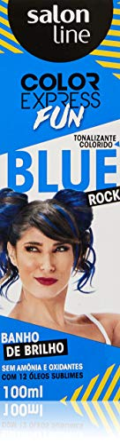 Salon Line Color Express Tintura Semi Permanente Fun Azul Blue Rock, 100 ml