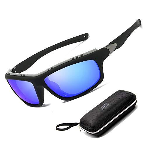 Perfectmiaoxuan Gafas de sol polarizadas para hombre mujer/Golf de pesca fresco Ciclismo El golf Conducción Pescar Alpinismo Deportes al aire libre Gafas de sol (blue)