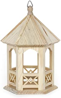 Darice 9168-55 Natural Unfinished Wood Craft Project X2 Gazebo, 10-Inch