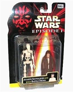 Star Wars Episode I Jedi Apprentice Anakin Skywalker with Bonus Battle Droid Action Figure by Star Wars