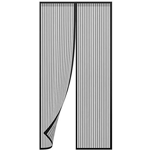 Hochwertige magnetische Mesh Anti-Moskito-Fliegenfliege Schiebetür Vorhang Balkon Terrasse Mesh Tür Bildschirm Wohnkultur einfach zu installieren ohne Lücken P1 B 80 x H 210 cm