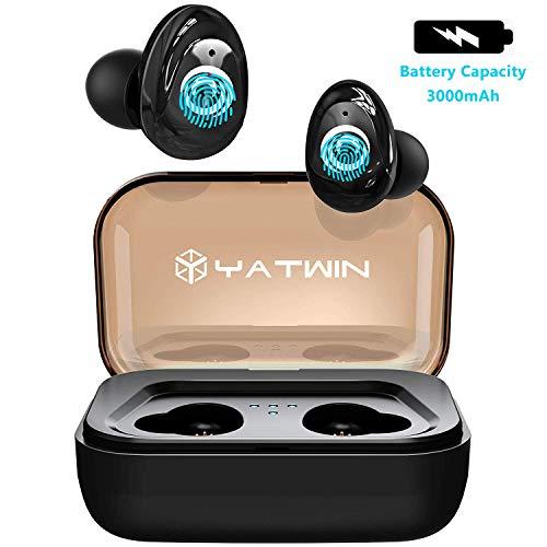 【2019 Neueste】 YATWIN P9 Bluetooth Kopfhörer In Ear Kabellos Bluetooth 5.0 HD-Stereo Minikopfhörer Sport mit Ladebox 3000mah,130 Stdn Spielzeit, IPX6 Wasserdicht für iPhone Huawei Samsung iPad