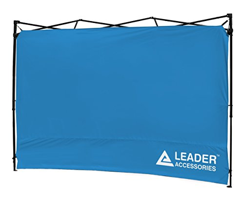 Leader Accessories Instant Canopy SunWall Side Wall for 10x10 Feet, 10x20 Feet Straight Leg pop up Canopy, 1 Pack Side Wall Only, Blue