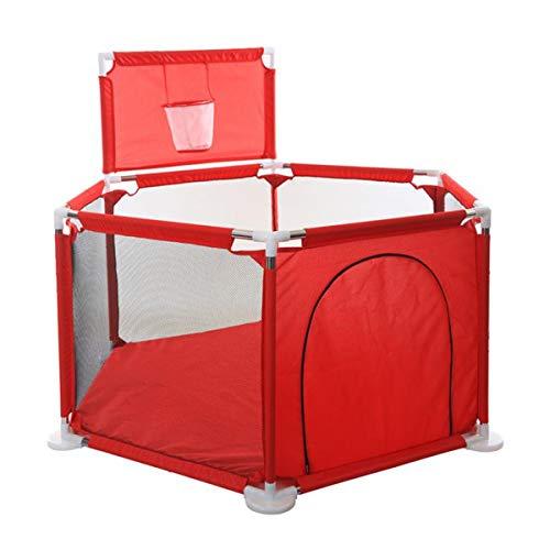 QNMM Los Niños de 6 Paneles Parque Infantil, Centro de Actividades Portátil Play Center Valla con Malla Transpirable, para Los Bebés del Niño Recién Nacido, de Interior Y Juegos Al Aire Libre
