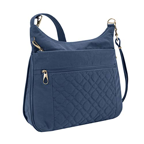 Travelon Anti-Theft Signature Quilted Expansion Crossbody, Ocean, One Size