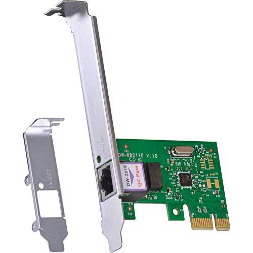 PLACA DE REDE 10/100/1000 PCI-E PRV1000E COM SUPORTE LOW PROFILE