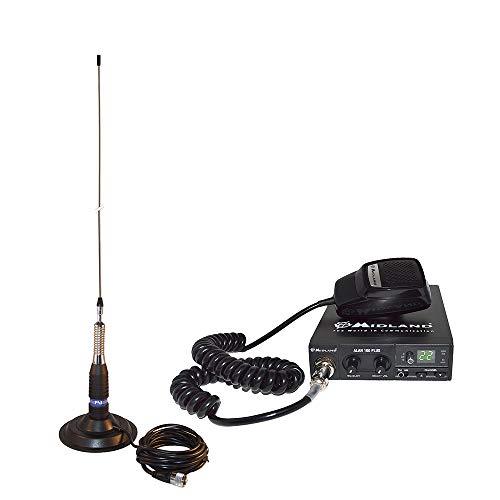 Estación de Radio CB Midland Alan 100 + Antena CB PNI ML160 con imán