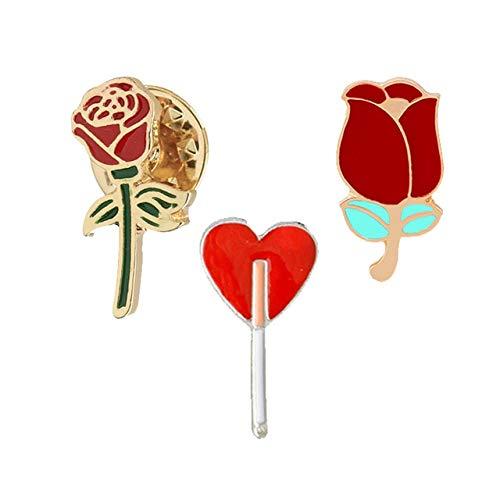 9 estilo esmalte Pin Badge Set Colección Broche Labios Flor y comida Zapatos Joyería Hombres Mujeres Chaquetas de mezclilla Mochila Accesorios-Estilo 2