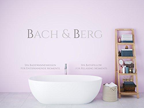 Bach & Berg Badewannenkissen | Weiches Badekissen für eine traumhafte Zeit in der Badewanne oder im Whirlpool mit Nackenkissen | Wannenkissen mit starken Saugnäpfen zur Erholung im Home SPA | - 7
