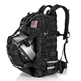 Helmet Backpack Large Capacity for Motorcycle Cycling - Waterproof, Expandable - Men Basketball Luggage Storage Backpack for Sports Outdoor Activities