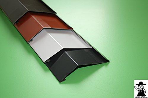 Traufblech 1 m lang Aluminium farbig 0,8 mm (klein, Rot)