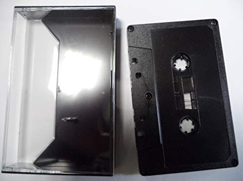 10 Cintas Virgenes Cassette Ferro 60 Minutos con Carcasa Color Negro/Ref.4210