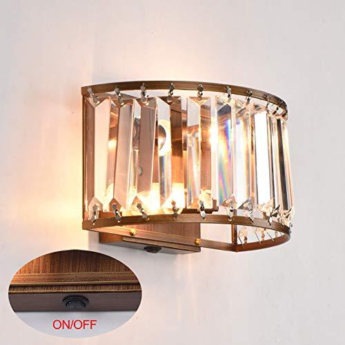 YXRPK Kristall Wandleuchte Moderne Stil E27 LED 12W Glühbirne Weißes Licht Oder Warmes Licht Hochtemperatur-Backlack-Eisenprozess K2.3 Kristall Schatten,Warmlight