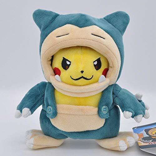 Pluche Driekoppige Draak Vuurspuwende Draak Kabi Beast Transfiguration Pikachu Zachte Pluche Pop-Kabi Beast_21cm