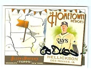 Autograph 120252 Tampa Bay Rays 2011 Topps Allen Ginters No. Hh87 Des Moines Ia Jeremy Hellickson Autographed Baseball Card