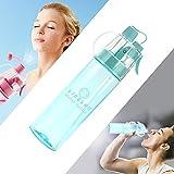 LINGLAN Bouteille d'eau de sport sans BPA 580 ml pour cyclisme, escalade, randonnée et alpinisme, Mixte Enfant, bleu transparent, 580ml