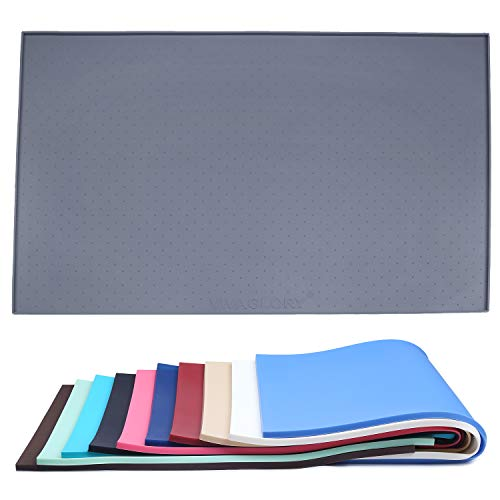 Vivaglory Dog Feeding Mat Large 24''L x 16''W FDA Grade Waterproof Non-Slip Pet Silicone Food Mat...