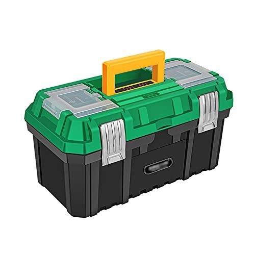 Cassetta porta attrezzi Cassetta degli attrezzi Casella della manutenzione della famiglia Cassetta degli attrezzi elettricisti con fibbia in acciaio inox Portatile Riparazione di plastica Caso di stoc