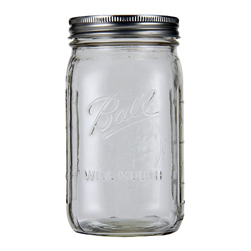 Ball Mason Jar Ball メイソンジャー Ball Wide Mouth Jars ワイドマウス 940ml Clear クリア 67000 ボール メイソンジャー 新生活 [並行輸入品]