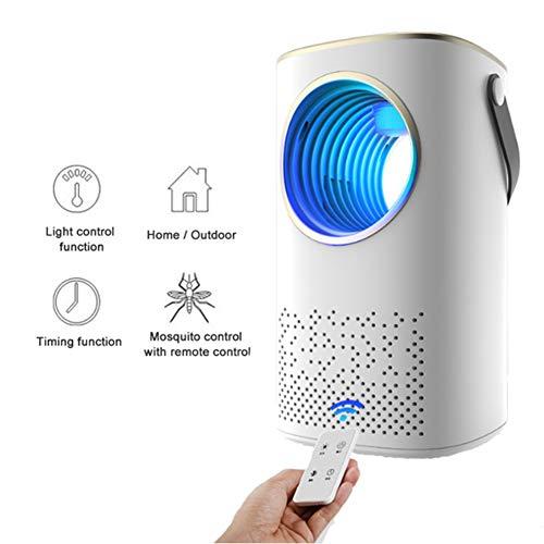 XDLYM Lámpara antimosquitos, Luces eléctricas para Matar Mosquitos con Control Remoto, eficiente y silencioso, Recarga USB, Adecuado para Dormitorio, Sala de Estar, Oficina, Interior,Blanco