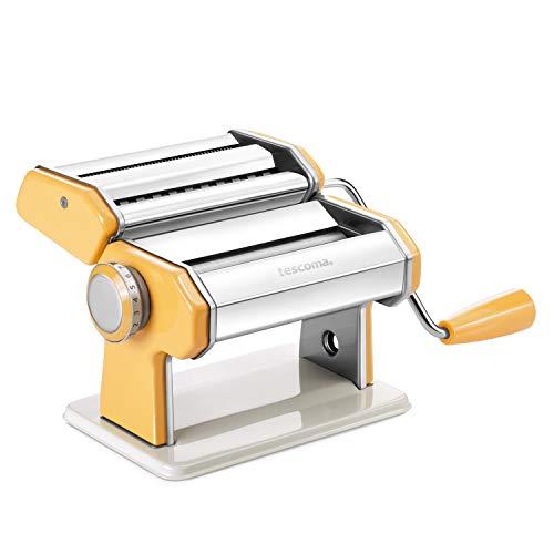 Macchina per pasta Tescoma in acciaio con manovella Arancione