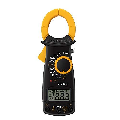 Kshzmoto Pinza amperimétrica Digital Multímetro Voltaje de CA CC de Mano Voltímetro de Corriente Resistencia de diodo Identificación de Cable de Fuego sin Contacto