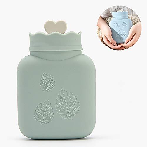 LKIHAH Eten Grade Odorless Silicone Handy 320ML Hot Water Fles, Magnetron Kluis, Mini Warm Water Tas