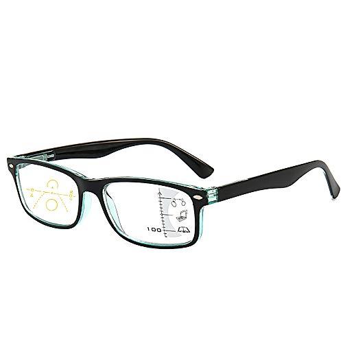 Verbesserte Version der progressiven multifokalen Lesebrille Blaulicht-Blockierung,Retro, intelligente Augenlinse