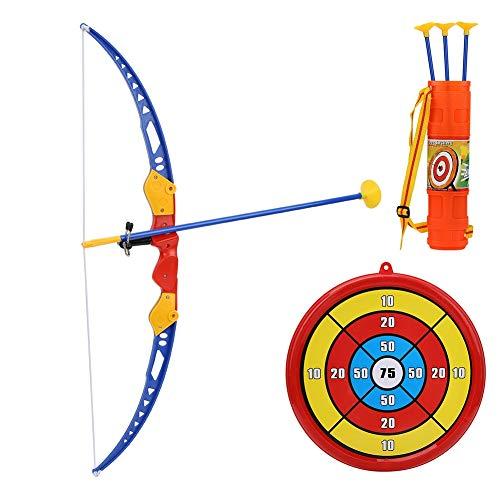VGEBY Kinder Bogenschießen Spielzeug, Kinder Taktische Bogenschießen Pfeile Spielzeug mit Saugnapf Score Ziel Köcher