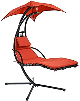 FDW Hanging Chaise Lounger Chair with Canopy