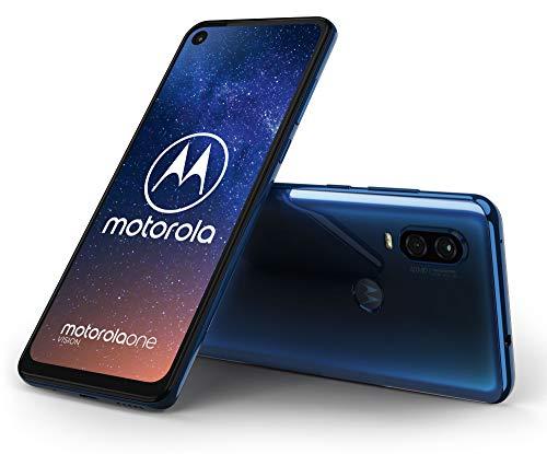 Motorola One Vision (6.3 Pouces, 4Go RAM, 128Go ROM, Double Nano SIM, Android 9.0) Bleu Saphir