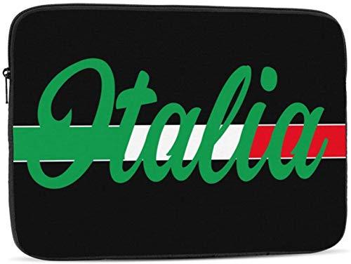 Borsa per computer portatile con teschio umano in vanga, compatibile con borsa per computer da 10 a 17 pollici, con bandiera Italia, 15'
