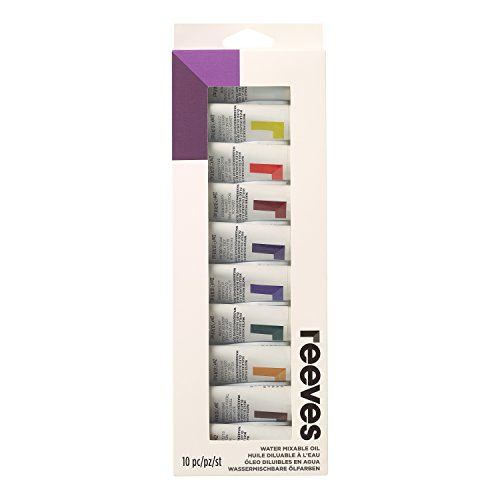 Tinta Óleo Reeves 12 cores 10 ml
