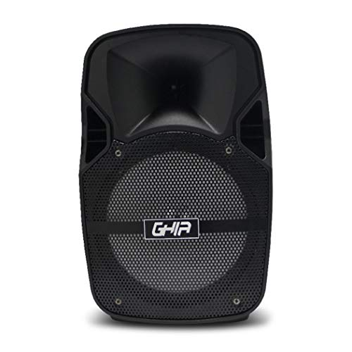 GHIA Bafle Amplificado Recargable GSP-08A – Bocina Portátil de 8″ – Bluetooth – USB – Micro SD – Aux IN…