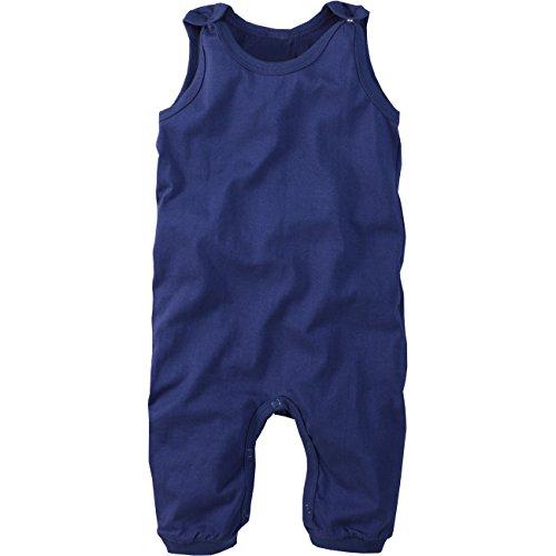 wellyou | Baby-Strampler | Kinder-Strampler | Marine-blau | Strampelanzug| für Jungen und Mädchen | Feinripp aus 100% Baumwolle | Größe 116-122