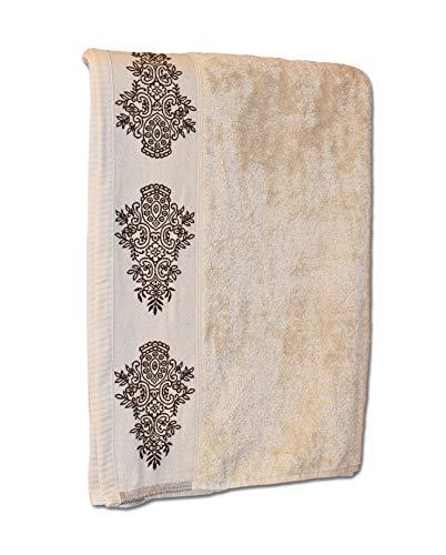 Exotic Cotton – Juego de Toallas de Baño 50 x 90 cm de Algodón Egipcio – 3 Piezas de Secado Rápido – 3 Toallas de Lavabo de 50x90 cm – Tacto Suave y Sin Pérdida de Color - Toallas Beige Oscuro