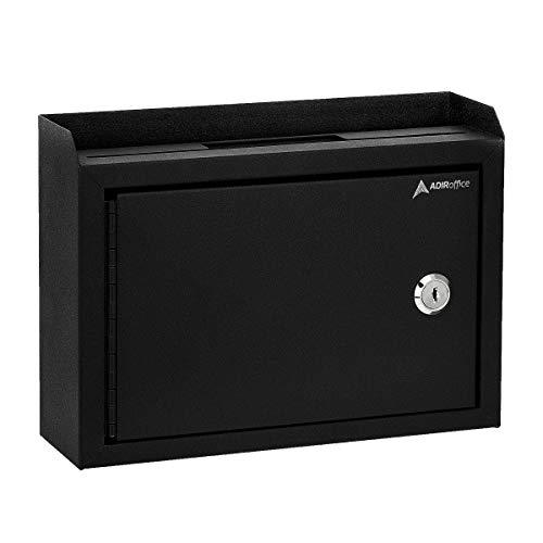 Adir Corp. Multi Purpose Medium Size Suggestion Box (Black)