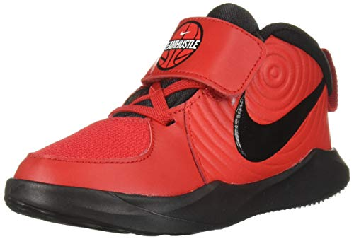 Nike Baby Team Hustle D 9 (TD) Sneaker, University red/Black - White, 5C Regular US Toddler