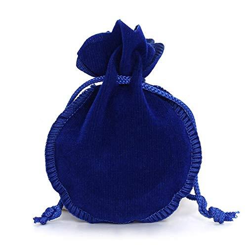 Lynn025Keats - Bolsas de terciopelo con cordón para joyas, diseño de calabaza, color azul 9x12cm